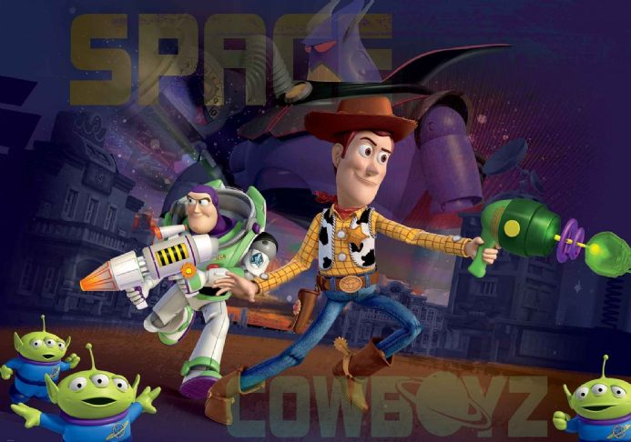 Wallpapers for kids bedroom Toy Story Space cowboys